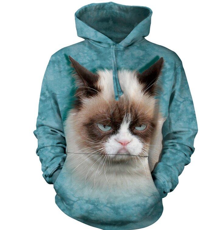 Kapucnis pulóver Grumpy cat