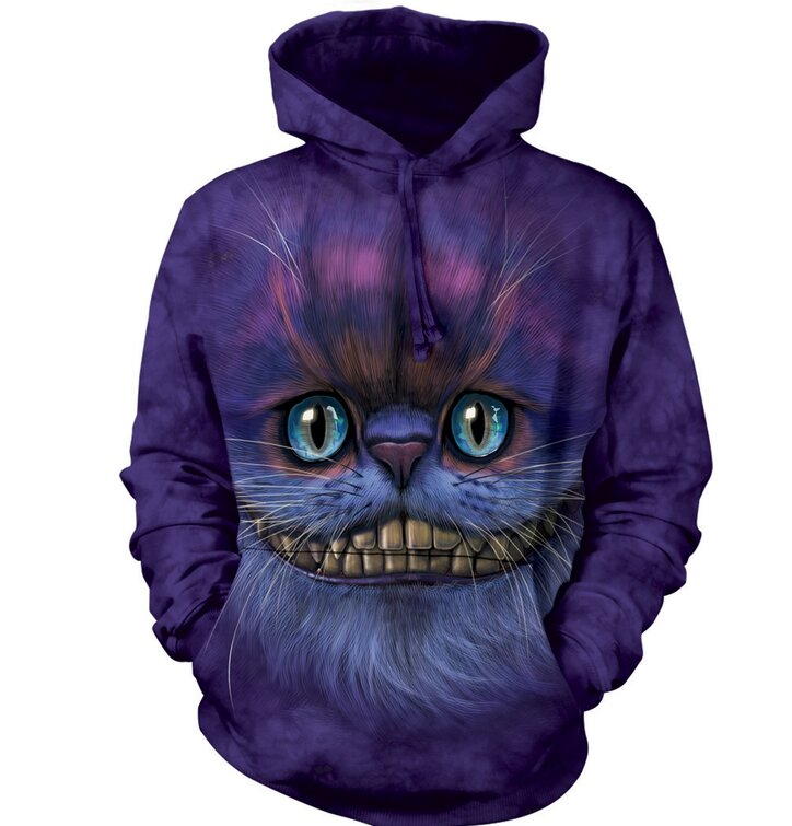 Big Face Cheshire Cat Hoodie