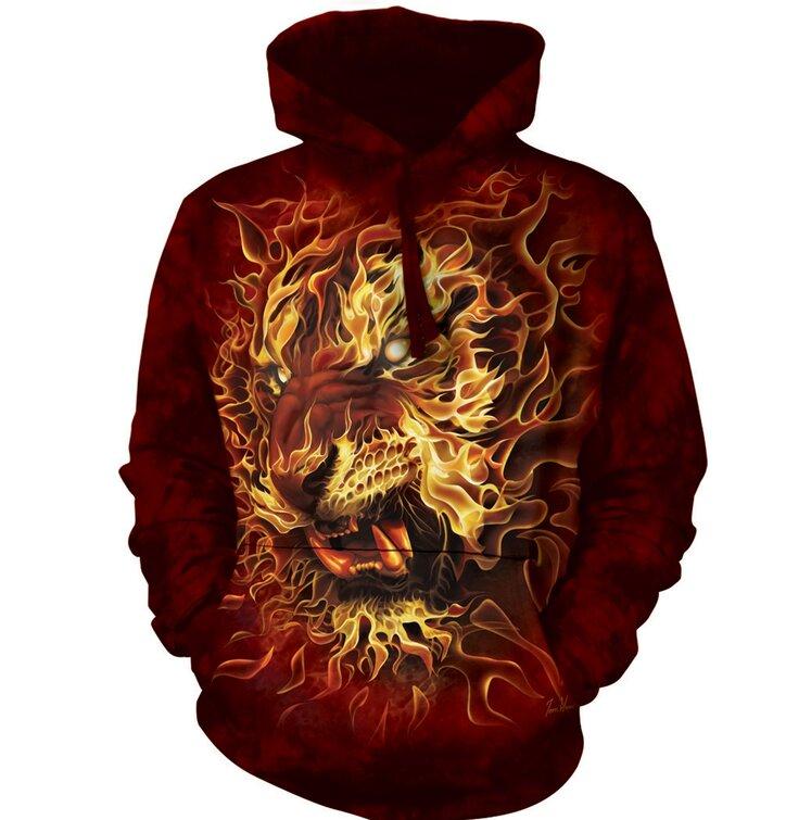 Kapucnis pulóver Tüzes tigris