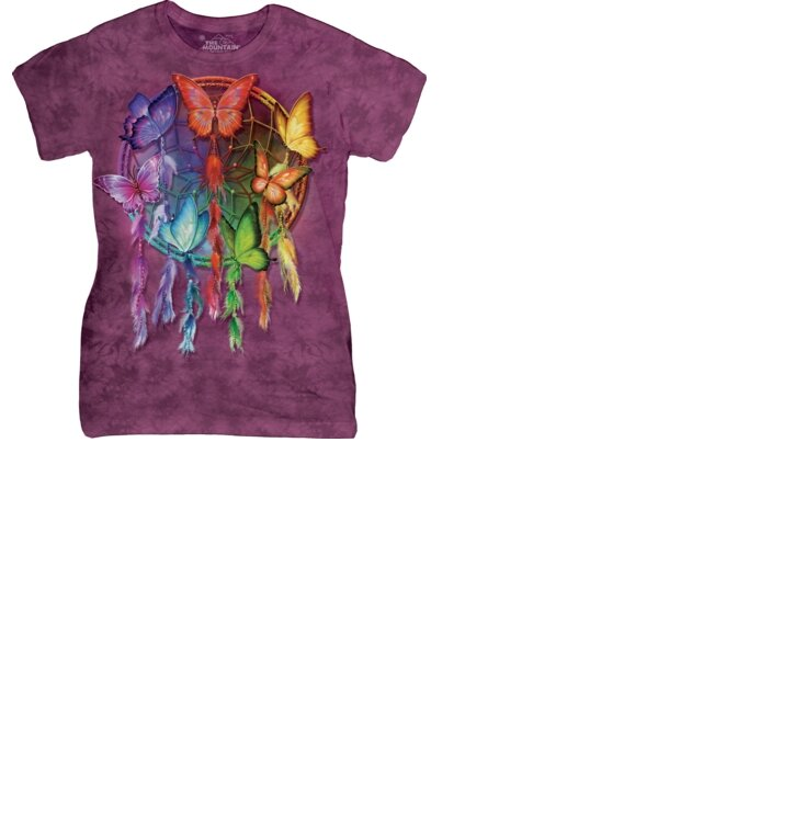 Dámske tričko Lapač snov s motýľmi