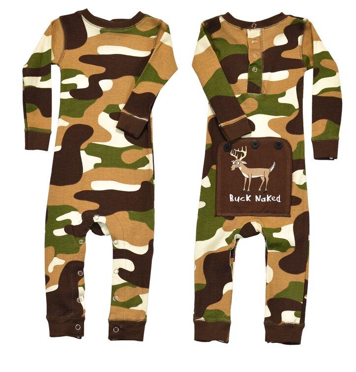 8bccd1da0 Detské Jednodielne Pyžamo - Vojenský Vzor -Zelené - Batoľa | Dedoles
