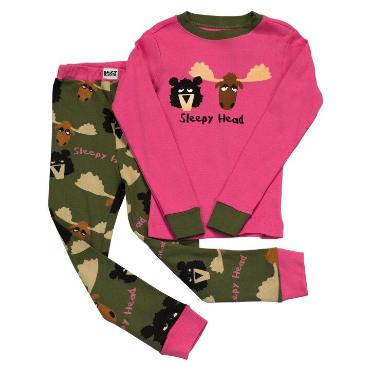 Detské Dvojdielne Pyžamo Ospalý Sob – Ružové