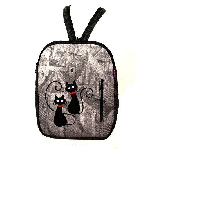 Dizajnový ruksak - Mačky na streche