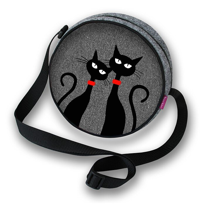 Twist Round Purse - Two Cats