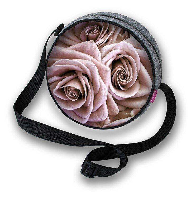 Guľatá kabelka Twist - Ruže