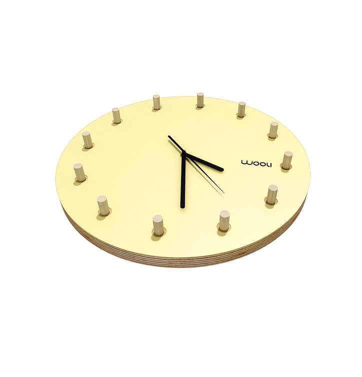Wall Clock Kloki Klasik - yellow