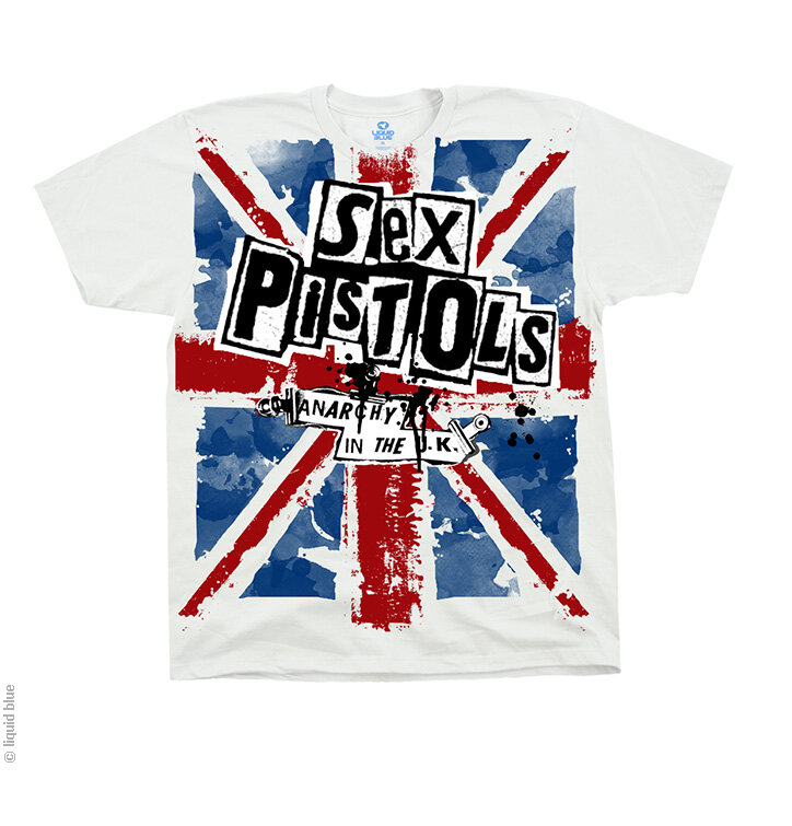 Sex Pistols Anarchy in the UK fehér zene póló  0b7bb89b73