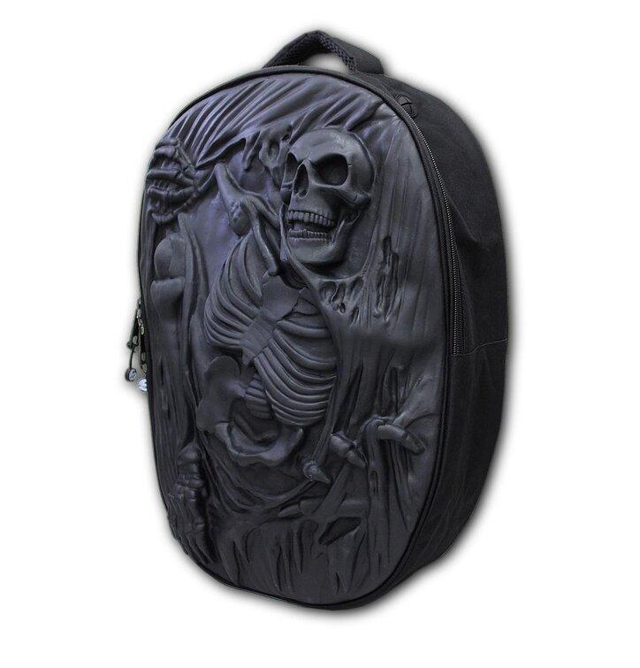c8f326f2f3 Fekete 3D hátizsák Csontváz | Dedoles