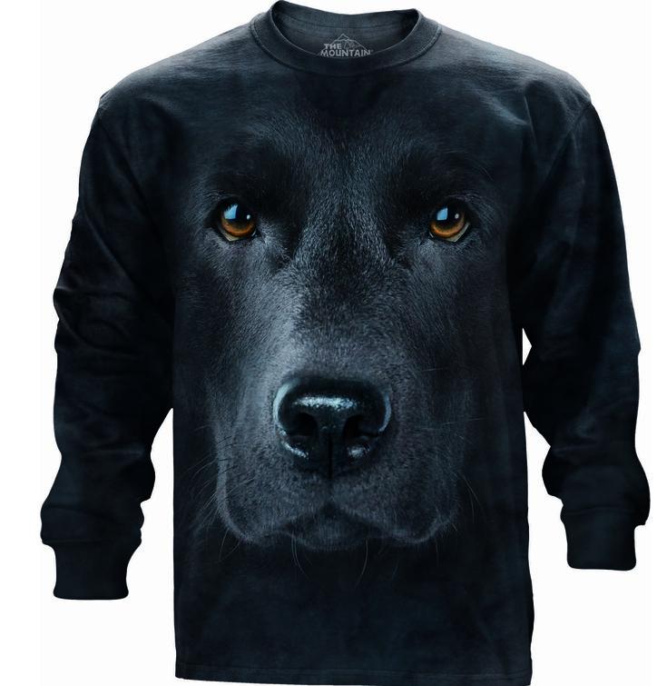 Hosszúujjú póló Fekete labrador arca