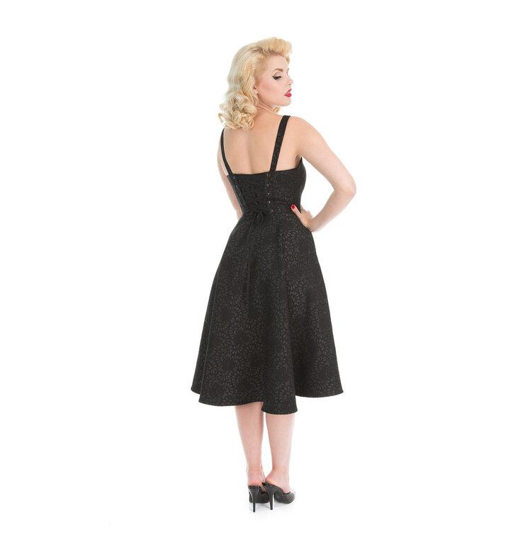 b08ffd0f273 Tip na dárek Brokátové retro pin up šaty