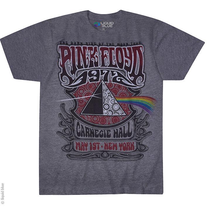 Šedé hudobné tričko Pink Floyd Carnegie Hall