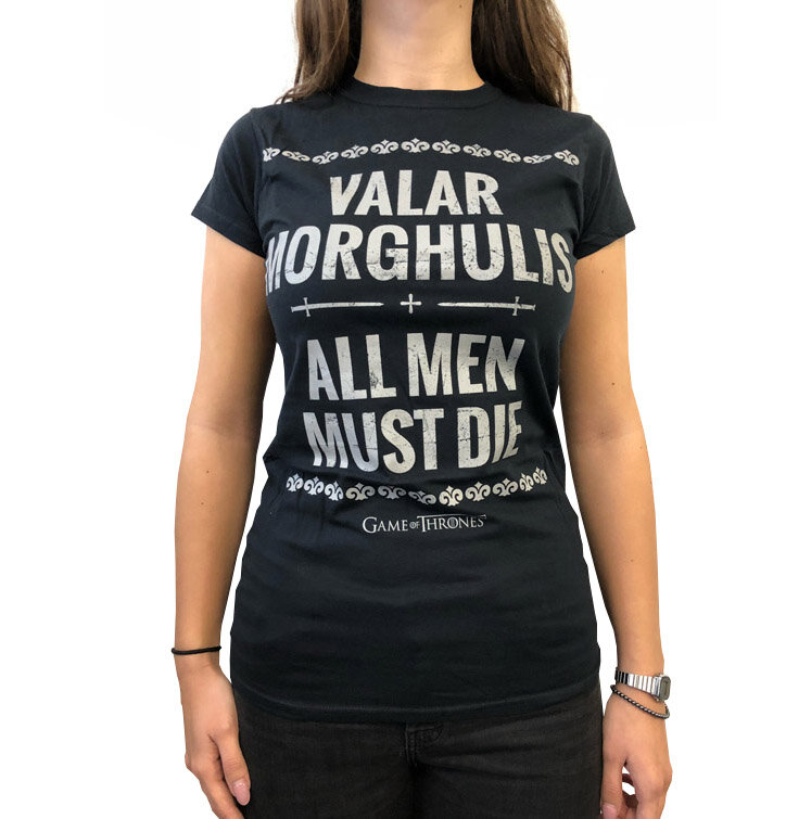Tricou damă negru Game of Thrones - Valar Morghulis