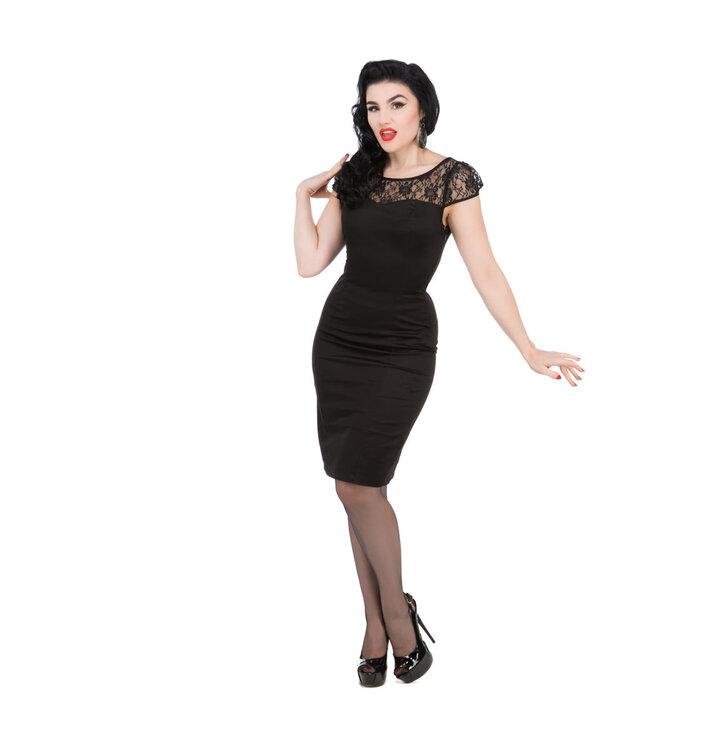 Hľadáte originálny a nezvyčajný darček  Obdarovaného zaručene prekvapí  Čierne retro puzdrové šaty b750fbddf9f