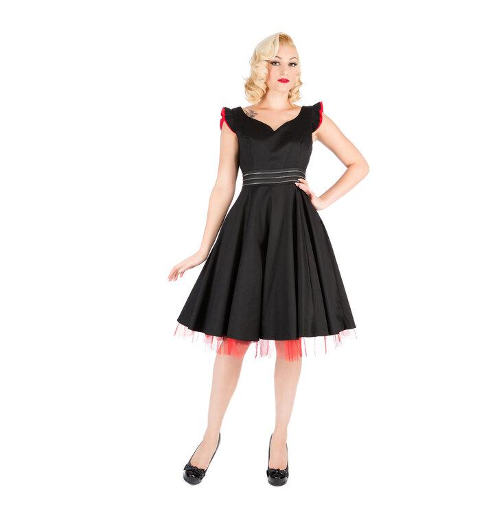 Čierne večerné retro šaty