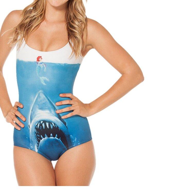 Dámske celé plavky Žralok vs. morská panna