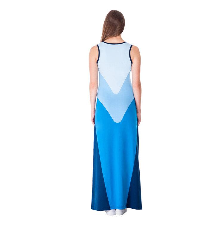 48ebc69a16 Eredeti és szokatlan ajándékot keres? a megajándékozottat garantáltan  meglepi Női hosszú kék pamut ruha