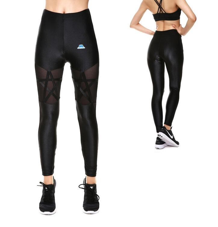 Női hálós elasztikus leggings Csillag