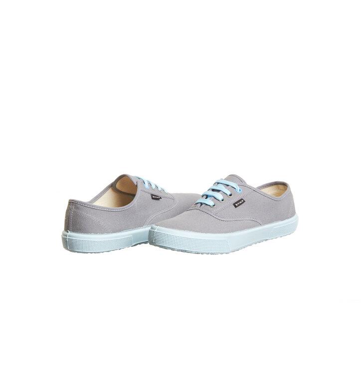 dc62262bef1be Pre dokonalý a originálny outfit Dámske nízke plátené konopné tenisky  sivo-modré