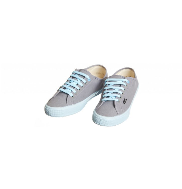 c05cc45fe9af Pre dokonalý a originálny outfit Dámske plátené konopné tenisky sivo-modré