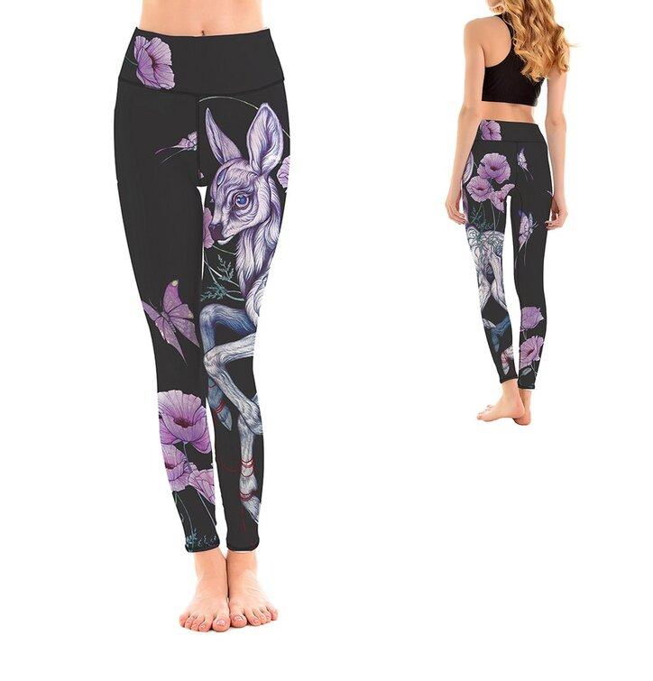 Női sportos elasztikus leggings Bambi