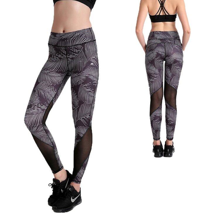 Női sportos elasztikus leggings Black Jungle