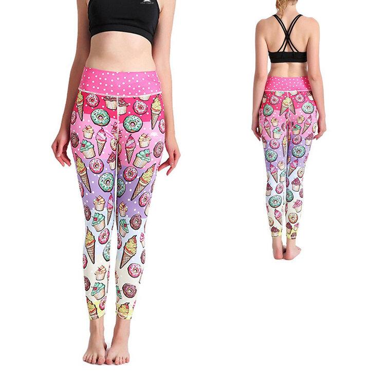 Női sportos elasztikus leggings Desszertek