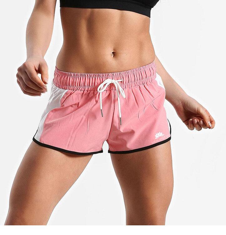 Pantaloni scurți sport pentru femei Pink And White