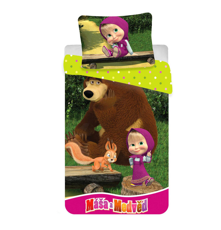 Bettwäsche Mascha Und Der Bär Im Wald Dedoles
