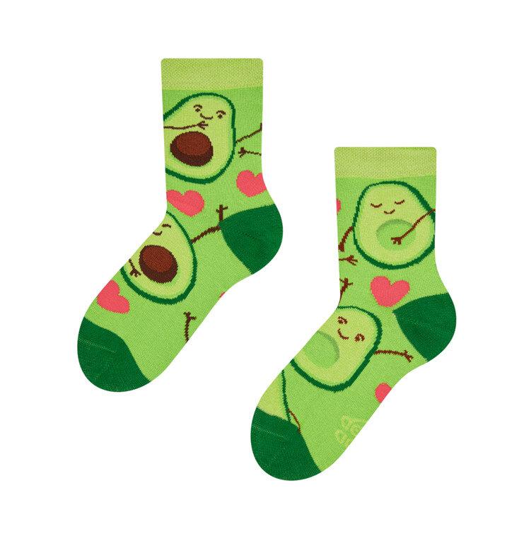Lustige Kinder Socken Avocado-Liebe