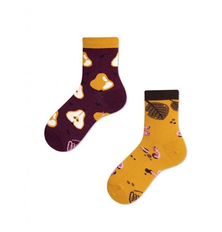 Detské veselé ponožky Jeseň a hrušky