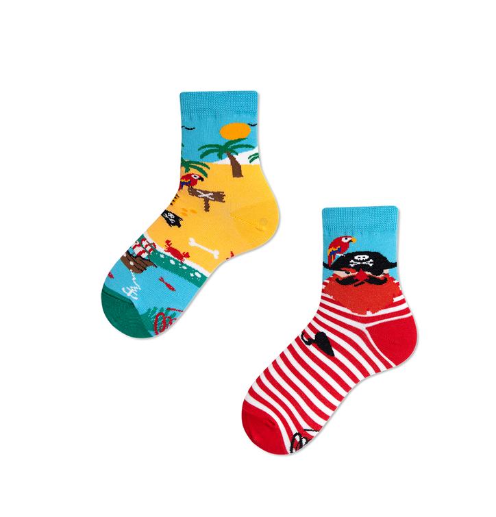 Dětské veselé ponožky Ostrov pirátů