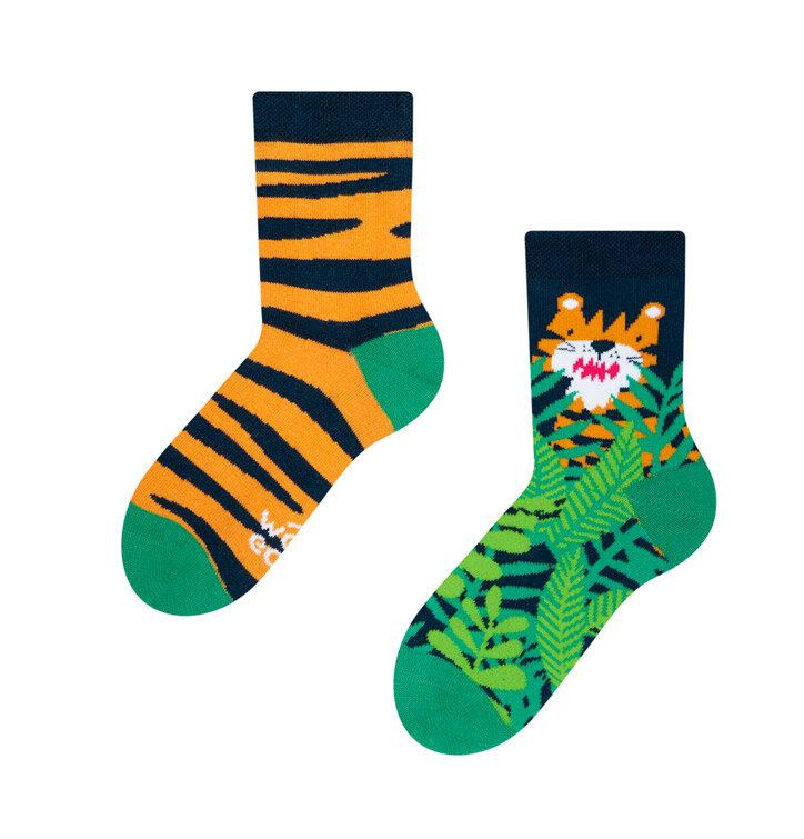 Dětské veselé ponožky Tygr
