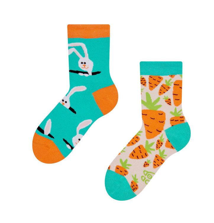 Șosete  vesele pentru copii Iepure și morcov