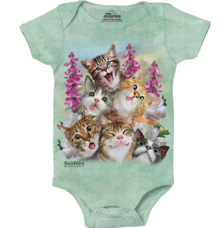Dětské body Selfie roztomilé kočky