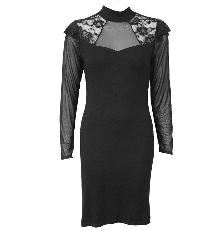 1b58f7c3f16b Potešte sa týmto kúskom Dedoles Čipkované šaty s dlhým rukávom Basic