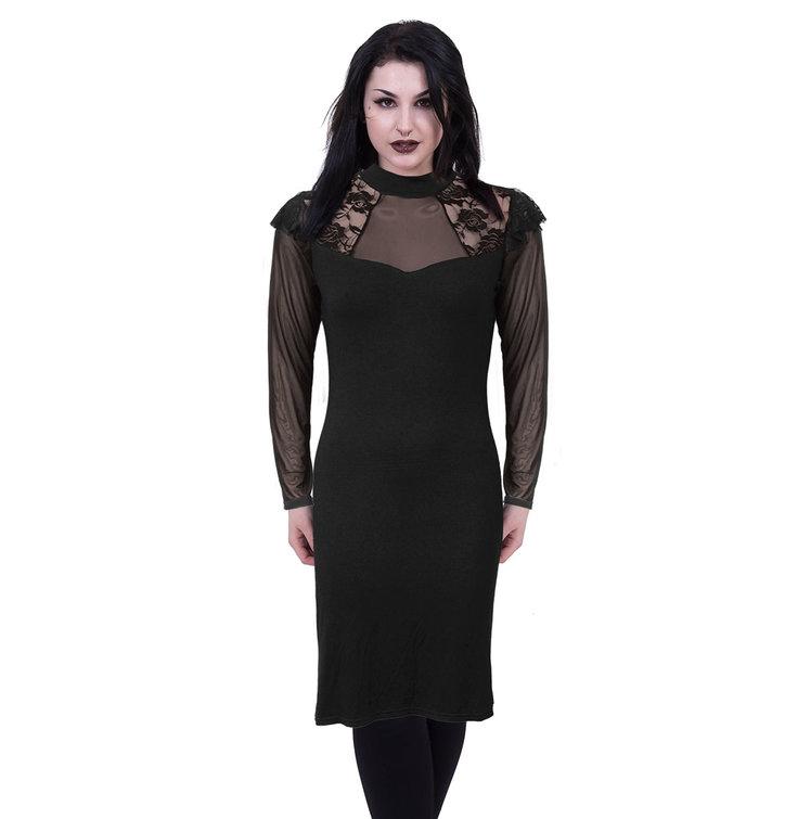 Pre dokonalý a originálny outfit Čipkované šaty s dlhým rukávom Basic 1fcaa2e16f6