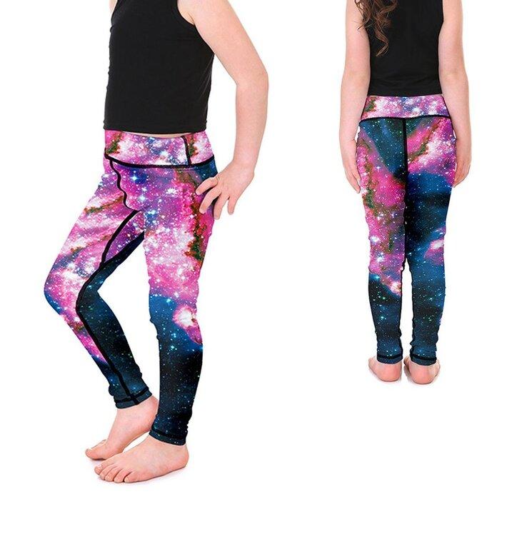 Legíny pre dievčatá Galaxy Pink
