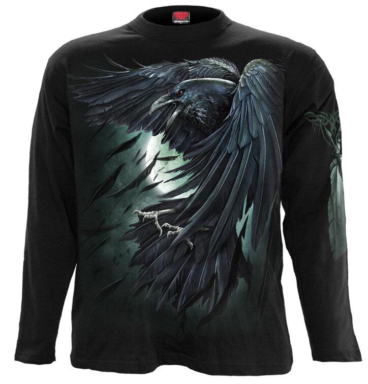Tričko s dlhým rukávom Útok vrany