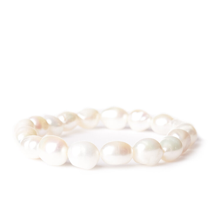 Náramok Riečne perly biele - kameň krásy