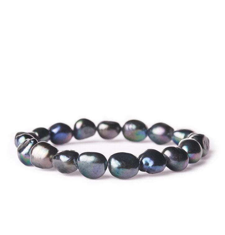 Náramok Riečne perly tmavé - kameň krásy
