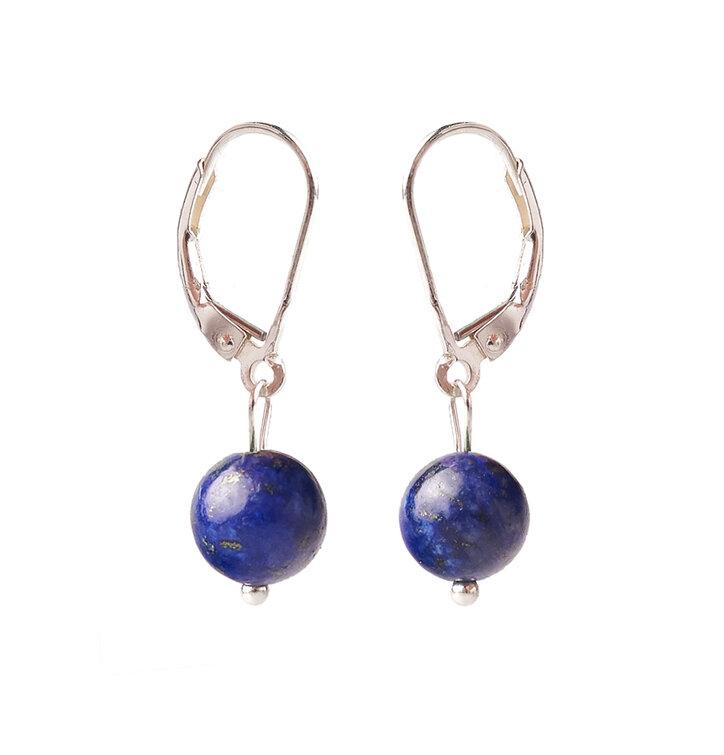 Náušnice Lapis lazuli guličky - kameň priateľstva