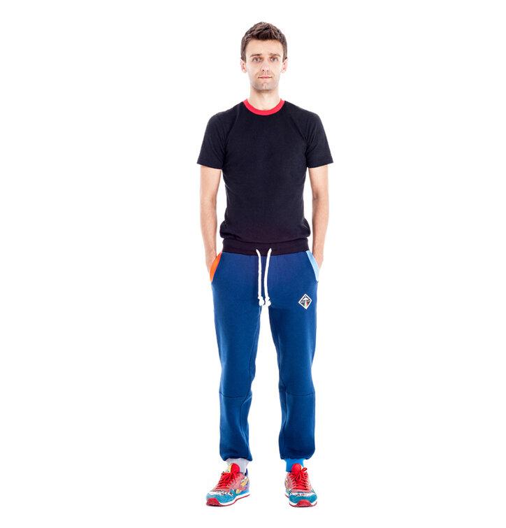 149fdf5d2e Férfi kék pamut szabadidő nadrág | Dedoles