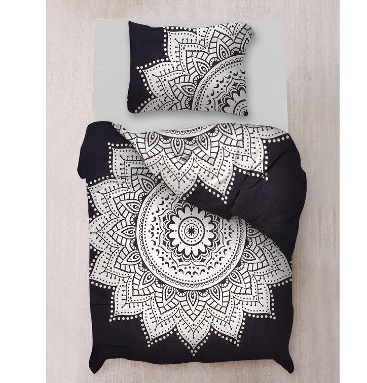 Mandala Bedding Black and White Morocco