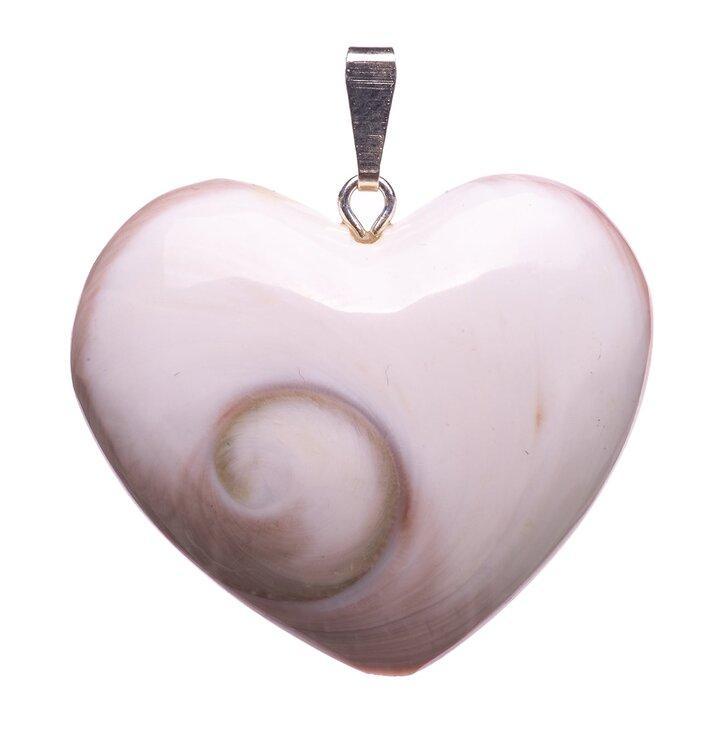 Prívesok Shiva mušľa srdce - kameň premeny