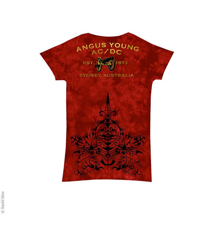 Kedvezmény AC DC Problem child Piros női zenés póló a0b7a9b7bb