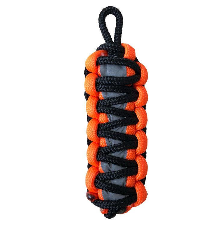 Reflexní paracord přívěsek přežití King Cobra - oranžový