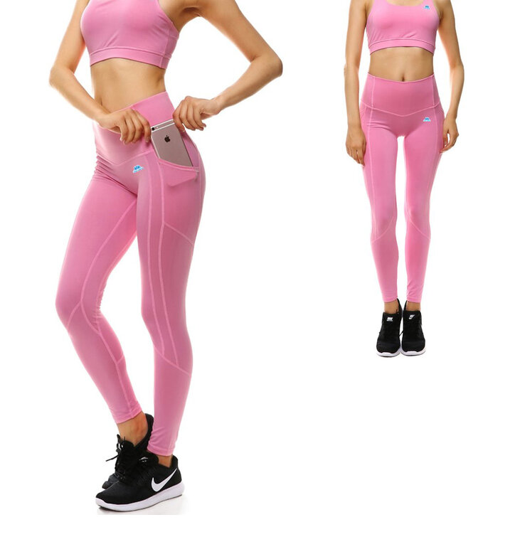 c316b681ea4d48 Damen Sport Leggings mit Tasche Rosa | Dedoles