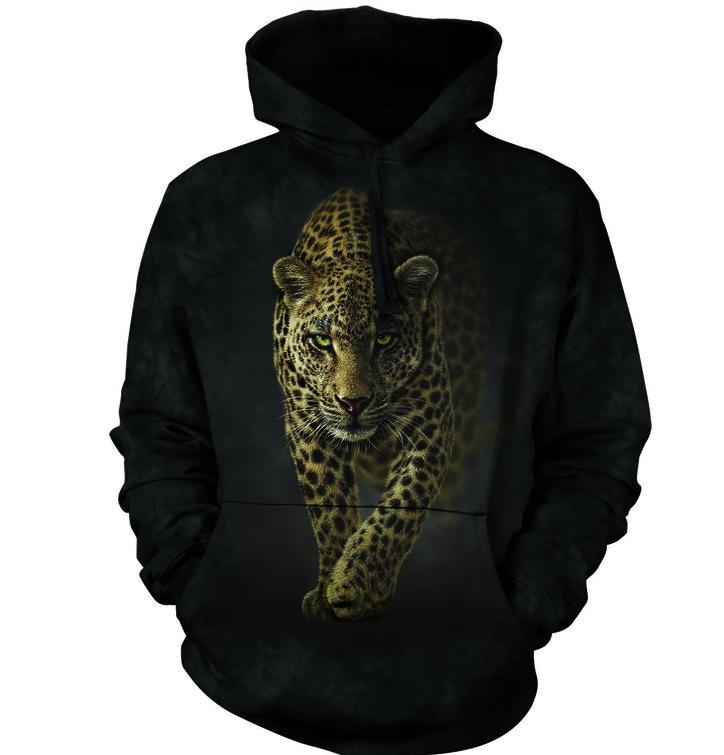 Mikina s kapucňou Tajomný leopard