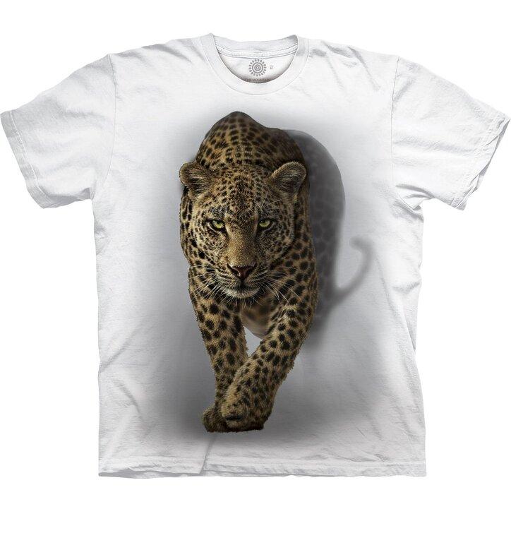 Biele tričko Tajomný leopard