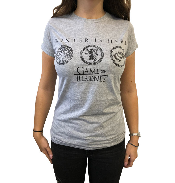 Tricou damă gri Game of Thrones - Winter is Here